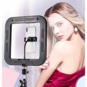 Квадратная светодиодная Led Лампа 28см D35  с держателем для для Youtube Tiktok Vlog макияжа